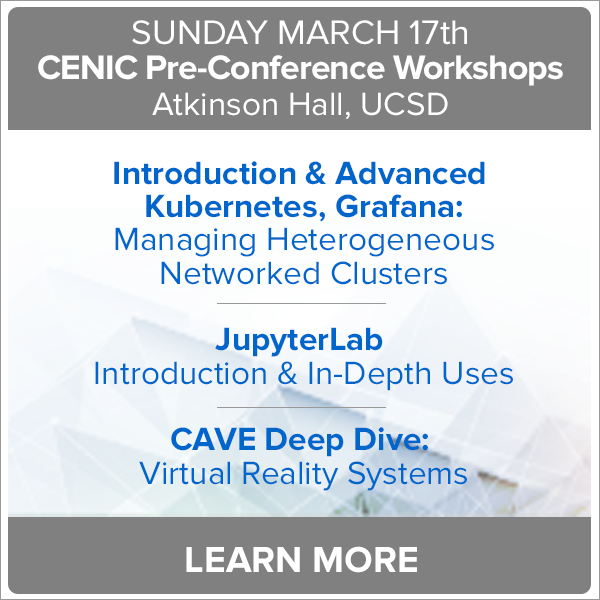Pre-Conference Workshops at CENIC-Learn More